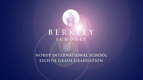 Thumbnail for entry 2014 Norup International School Eighth Grade Graduation