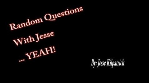 Thumbnail for entry Random Questions with Jesse - WSCN 2013