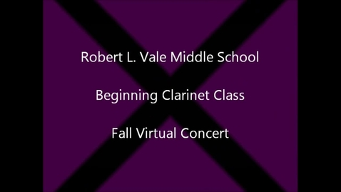 Thumbnail for entry 2012-2013 Beg. Clarinet Fall Concert - Revised
