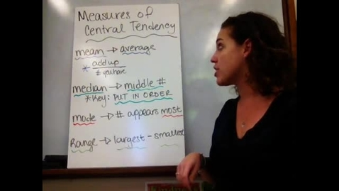 Thumbnail for entry 6th - Sect 9-5 Measures of Central Tendency