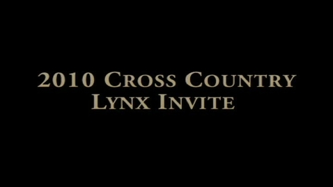 Thumbnail for entry Lynx Cross Country Invite