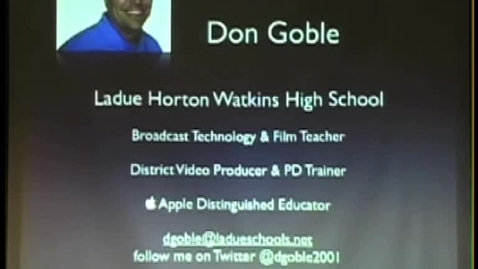 Thumbnail for entry MEOA Conference: Don Goble - Professional Learning Network