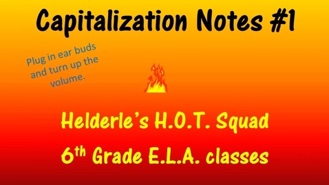 Thumbnail for entry Capitalization #1
