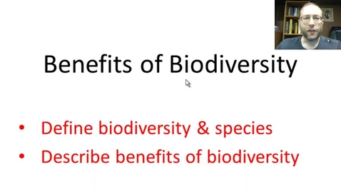 Thumbnail for entry Benefits of Biodiversity