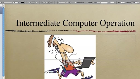 Thumbnail for entry Basic Computer Operations