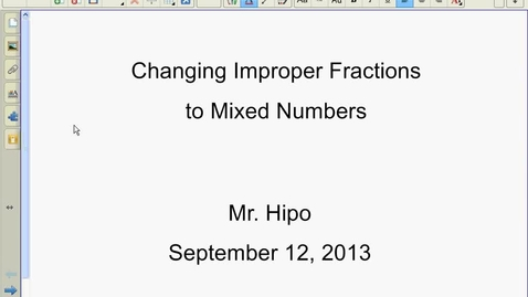 Thumbnail for entry Improper to Mixed using Calculator