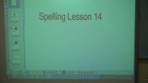 Thumbnail for entry 4th - Spelling lesson 14