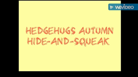 Thumbnail for entry Hedgehugs Autumn Hide-and-Squeak