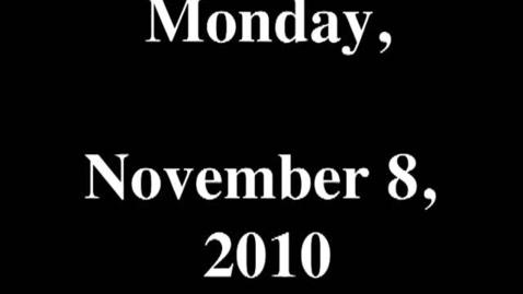 Thumbnail for entry Monday, November 8, 2010