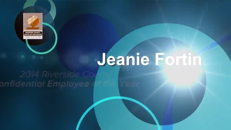 Thumbnail for entry Celebrating Educators 2014:  Jeanie Fortin