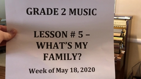 Thumbnail for entry WHAT's MY FAMILY for Grade 2