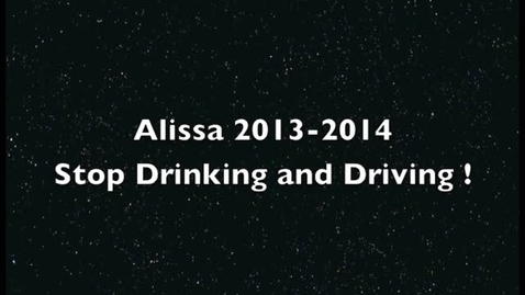 Thumbnail for entry Stop drinking and driving