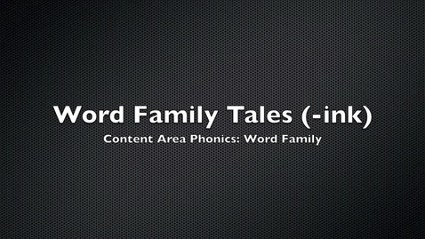 Thumbnail for entry Word Family Tales