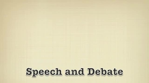 Thumbnail for entry VHS Speech and Debate Promotional Video - Alex