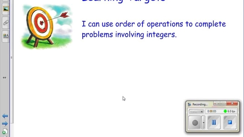 Thumbnail for entry 2.4 Order of Operations (Integer Examples)