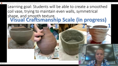Thumbnail for entry coil vase evaluate craftsmanship on visual scale