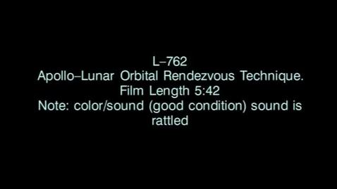 Thumbnail for entry Lunar Orbit Rendezvous