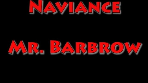 Thumbnail for entry Presentation on the Naviance Program