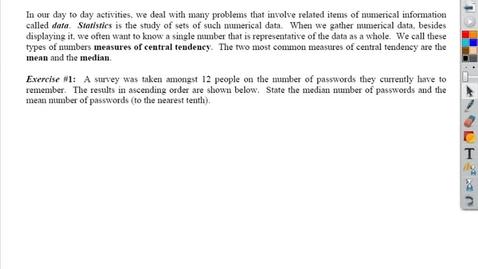 Thumbnail for entry Stats - Mean, Median, Outlier, Sample, Fair Sample