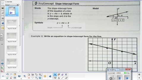 Thumbnail for entry Linear functions overview and practice lesson pt 1  9-30-15