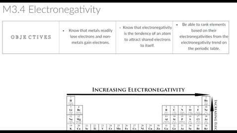 Thumbnail for entry Clip of M3.4 Electronegativity