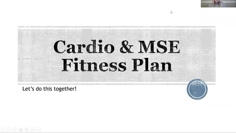 Thumbnail for entry Cardio & MSE Fitness Plan Help Video