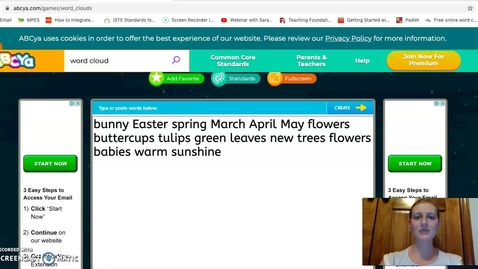 Thumbnail for entry Word Cloud Mar 30 Apr 3