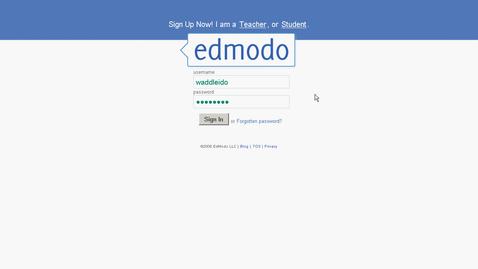 Thumbnail for entry using Edmodo