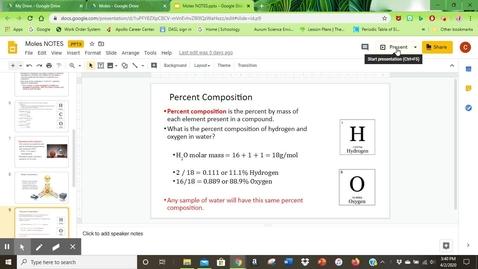 Thumbnail for entry Percent Composition-Empirical Formulas