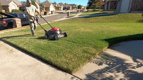Thumbnail for entry Start small | Walk behind mower, Battery String Trimmer, Handheld blower | last mow before dormant