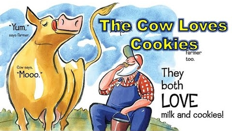Thumbnail for entry Read Aloud : The Cow Loves Cookies by Karma Wilson - story time any time