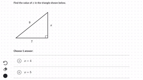 Thumbnail for entry Using Pythagorean's Theorem to find lengths of right triangles