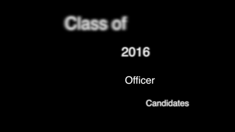 Thumbnail for entry PTHS Class of 2016 officer speeches