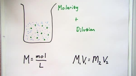 Thumbnail for entry Molarity and Dilution