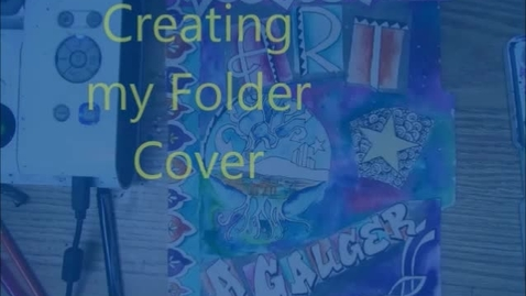 Thumbnail for entry Drawing a folder cover start to finish 10 min x8 speed
