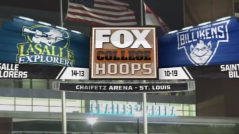Thumbnail for entry La Salle vs Saint Louis baskeball hype video