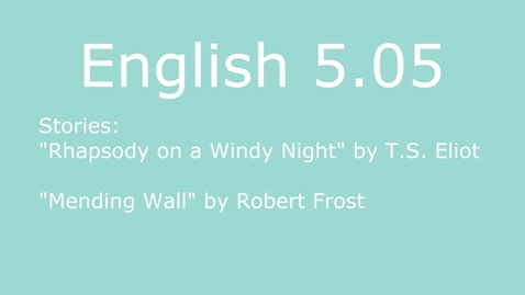 Thumbnail for entry English III 5.05