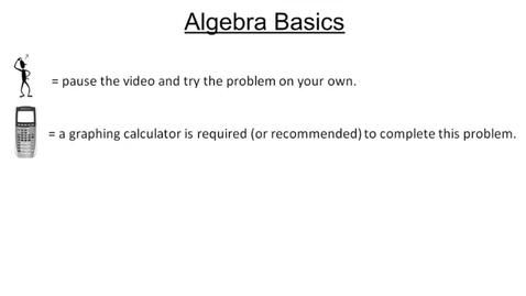 Thumbnail for entry 1.1 Algebra Basics