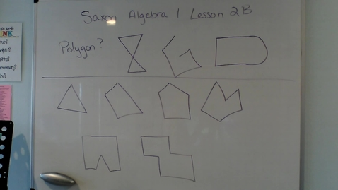 Thumbnail for entry Saxon Algebra 1 Lesson 2B