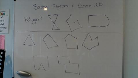 Thumbnail for entry Saxon Algebra 1 Lesson 2B