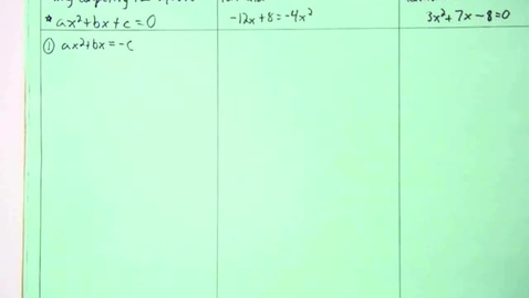 Thumbnail for entry Quadratic Formula, Axis of Symmetry, and Vertex