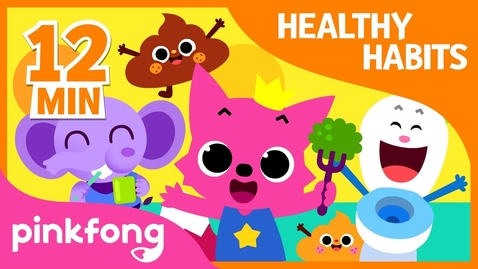 Thumbnail for entry Bath Time song and 9+ songs| Healthy Habits Songs | + Compilation | Pinkfong Songs for Children