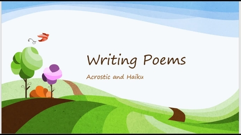 Thumbnail for entry Writing Poems