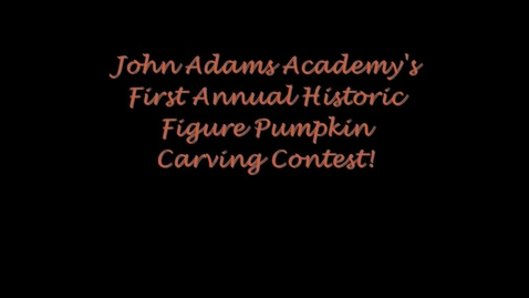 Thumbnail for entry 1st annual historic figure pumpkin carving contest