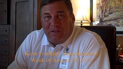 Thumbnail for entry Superintendent Kenn Franklin's Podcast