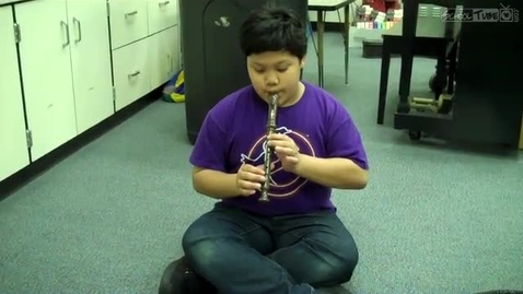 Thumbnail for entry Mark W., recorder solo 2011, Dabbs Elementary
