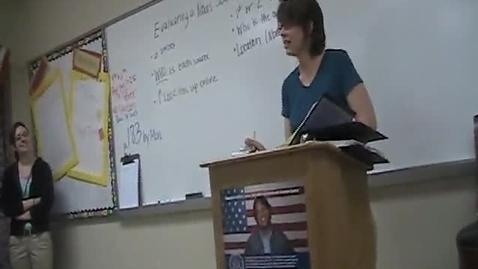 Thumbnail for entry Teacher of the Week, Mrs. Rentz (WSCN 2010-2011)
