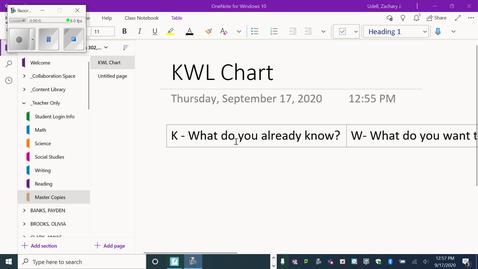 Thumbnail for entry KWL chart explaination