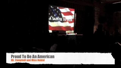 Thumbnail for entry Proud to be an American