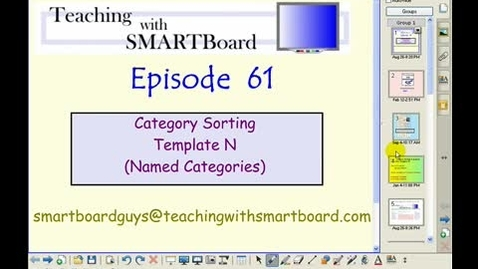 Thumbnail for entry Teaching with Smartboard Episode 61 Category Sorting with Unnamed Categories